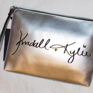 KENDALL & KYLIE Copper Wristlet Clutch Bag